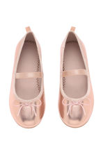 Ballet pumps with strap - Rose gold - Kids | H&M CN 2